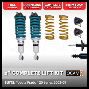 "2"" Lift Kit for Toyota Prado 120 Series 2003-2009"