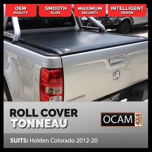 Retractable Tonneau Roll Cover For Holden Colorado, 2012-20, Dual Cab, Electric Roller Shutter