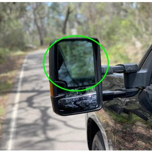 Replacement Glass for OCAM TM2 Towing Mirrors Heated Passenger's Side - Top Piece