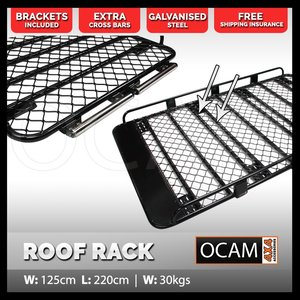OCAM Aluminium Tradesman Roof Rack for Pajero Patrol Landcruiser With Rollers (1250mm Internal)