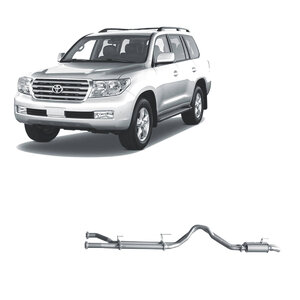 "Redback Extreme Duty 3"" Twin Exhaust System for Toyota Landcrusier 200 Series, 01/2007-Current, DPF Back, Muffler System"