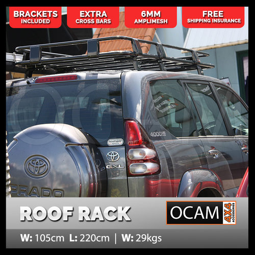 Aluminium Roof Rack For Toyota Landcruiser Prado 120 Series Alloy Basket