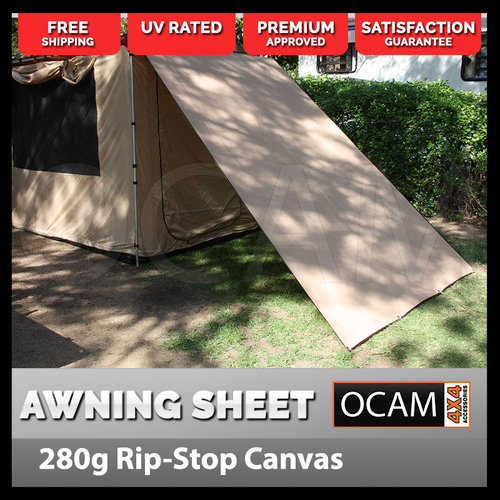OCAM Awning Side Sheet To Suit 2.5m x 3m Pull Out Awning 4x4 Camping